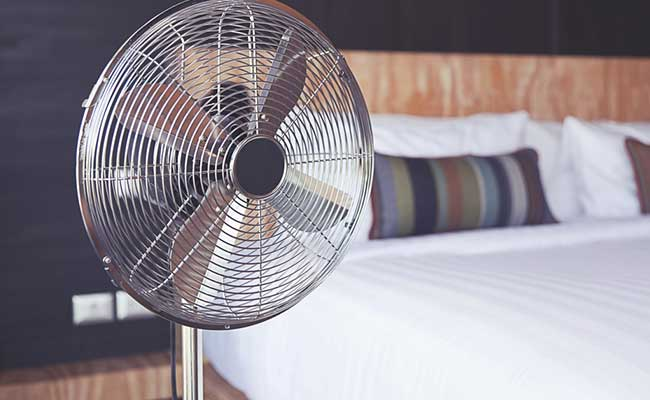 Sleeping with a fan on