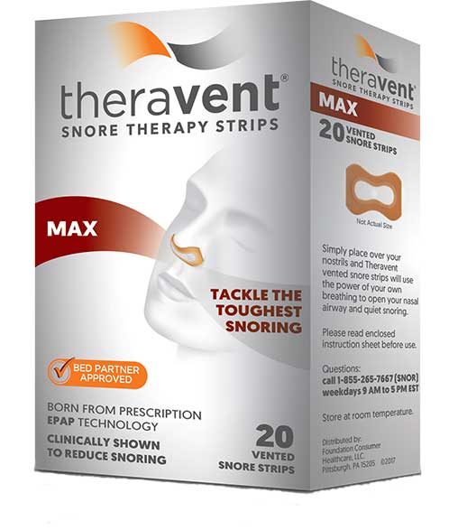 Theravent anti-snore strips