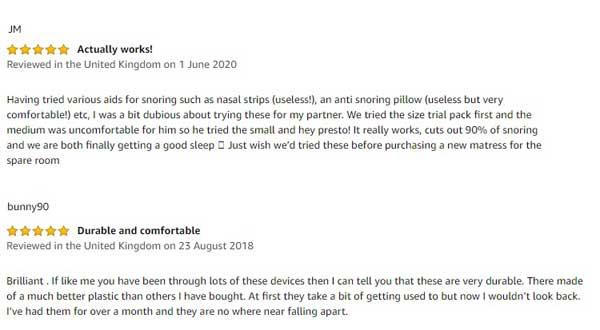 Mute Snoring customer reviews