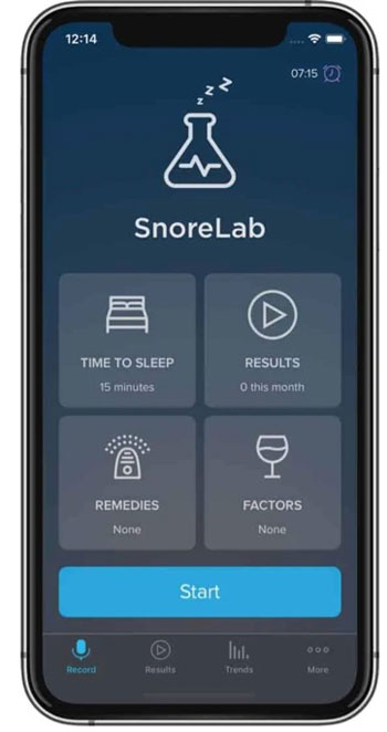 An app to record your snoring